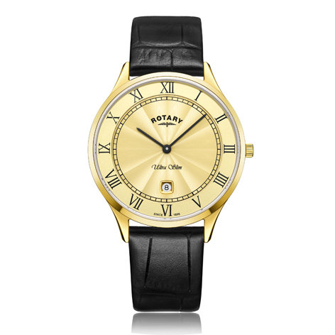 Rotary Ultra Slim Gold Plated Watch, GS08303/03.