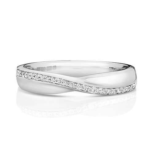 Diamond Eternity Ring 0.10cts, 18ct White Gold.