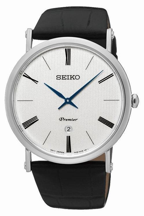 Seiko Mens Premier Ultra Thin Watch, SKP395P1.