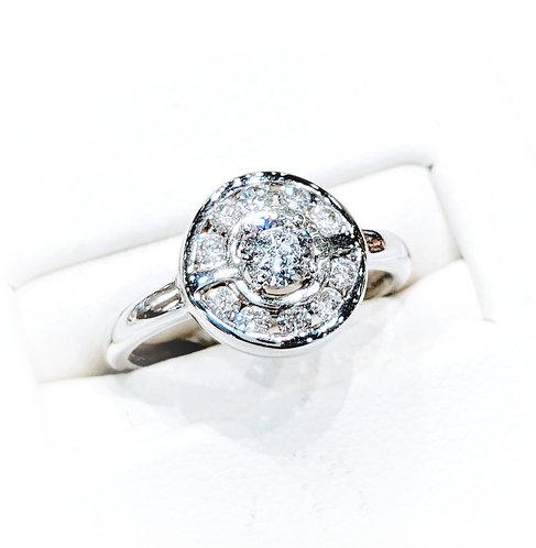 Diamond Cluster Ring 18ct White Gold