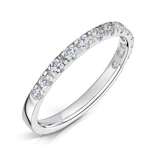 Diamond Eternity Ring 0.27cts, 18ct White Gold.