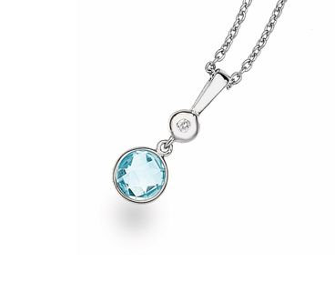 White Ice Sterling Silver Diamond Pendant DN492