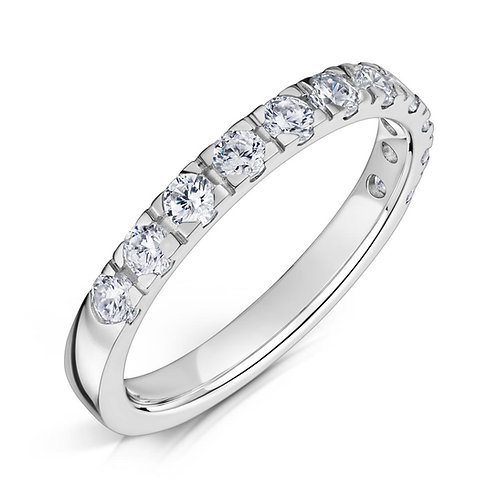 Diamond Eternity Ring 0.40cts, 18ct White Gold.