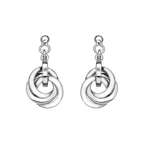 Hot Diamonds Drop Silver Earrings, DE388.