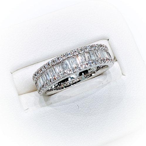 Diamond Sandwich Eternity Ring, 1.00cts