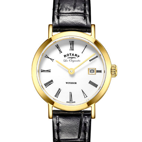 Rotary Windsor Ladies Gold Watch, LS90156/01.