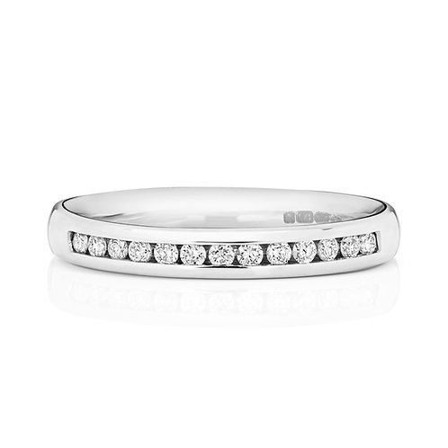 Diamond Platinum Eternity Ring, 0.17cts