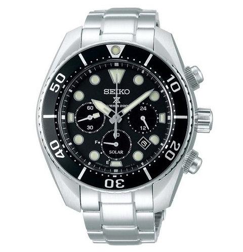 Seiko Mens Divers Solar Chronograph Watch Ref. SSC757J1