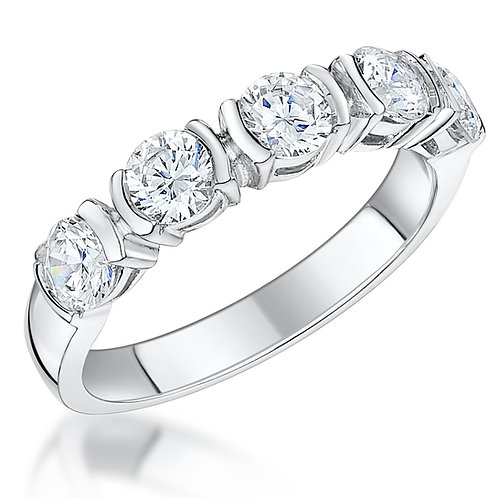 Jools  Cubic Zirconia Silver Ring, KPR10157