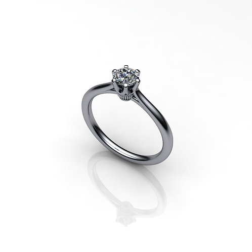 Diamond Solitaire Engagement Ring 0.35cts, 18ct White Gold
