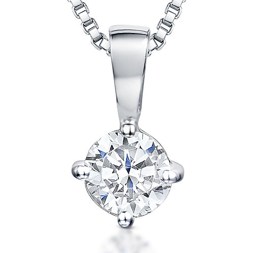 Jools Sterling Silver solitaire pendant kpn008