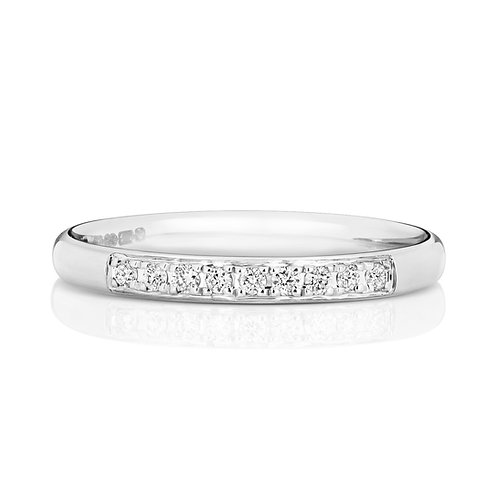 Diamond Platinum Eternity Ring, 0.10cts