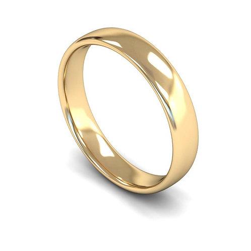 9ct Gold Slight Court Wedding Bands, WBL 4mm.