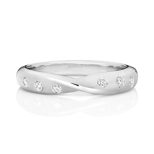 Diamond Eternity Ring 0.17cts, 18ct White Gold.