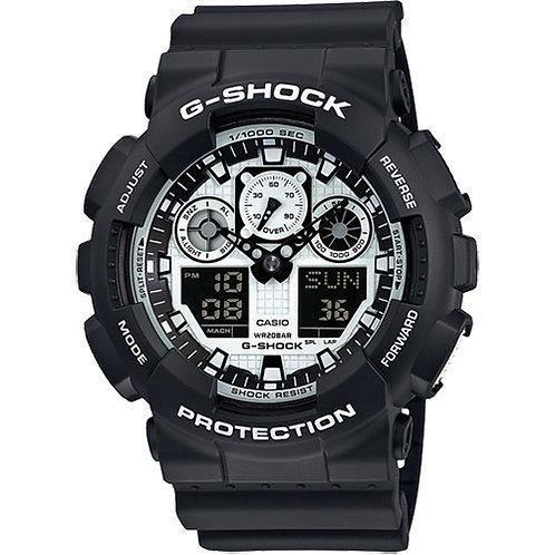 Casio Mens G-Shock Watch, GA-100BW-1AER.