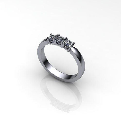 Diamond Ladies Platinum Trilogy Ring, 0.51cts.