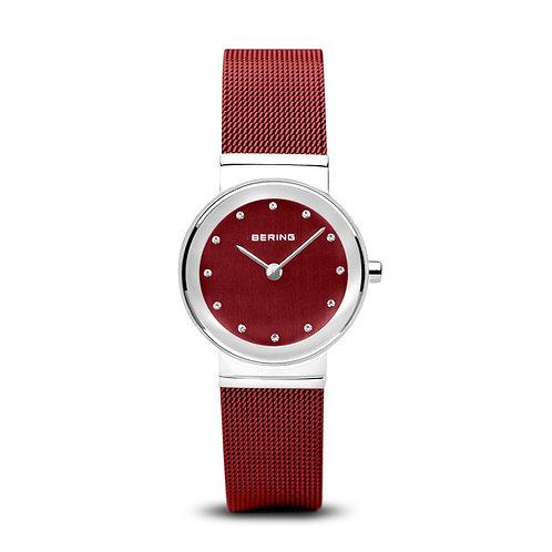 Bering Ladies Steel & Red Watch Ref. 10126-303