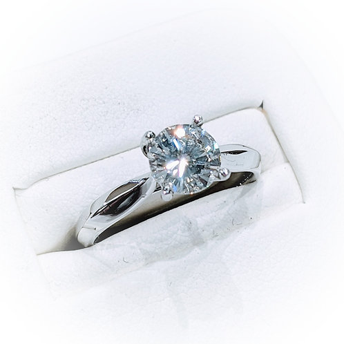 Diamond Platinum Solitaire Engagement Ring, 1.03cts