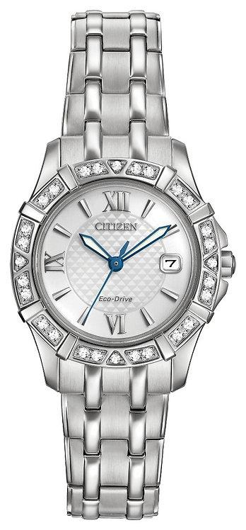 Citizen Ladies Silhouette Diamond Watch, EW2360-51A.