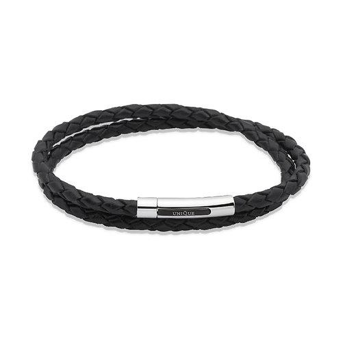 Unique & Co Mens Leather Bracelet, B171BL.