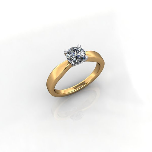 Diamond Solitaire Engagement Ring 0.60cts, 18ct Gold.