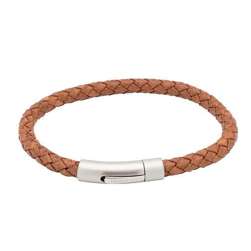 Unique & Co Mens Leather Bracelet, B399.