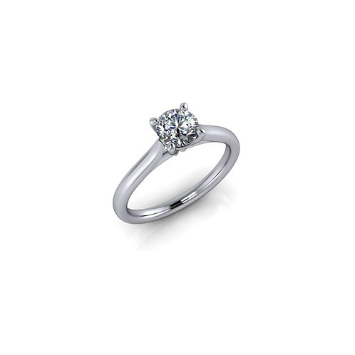Diamond Solitaire Engagement Ring 0.47cts, 18ct White Gold.