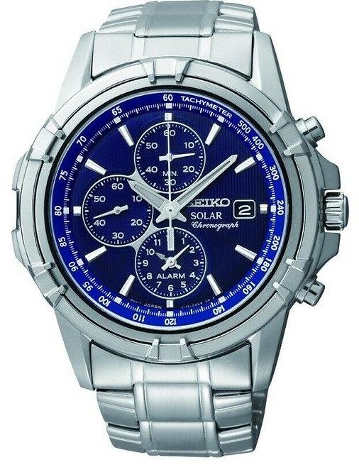 Seiko Mens Quartz Chronograph Alarm Watch Ref. SSC141P1