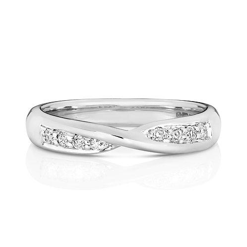 Diamond Eternity Ring 0.15cts, 18ct White Gold.