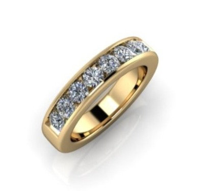 Diamond Eternity Ring 1ct, 14ct Yellow Gold.