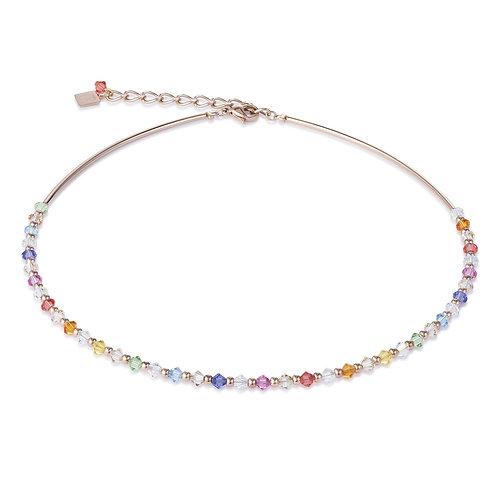 Coeur De Lion Necklace multicolour Swarovski® Crystals & rose gold, 4948101522.