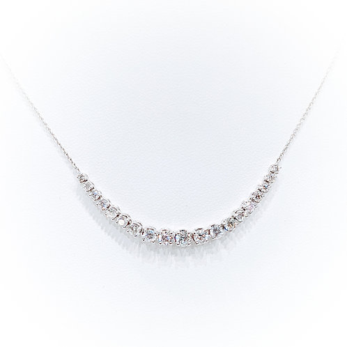 Diamond Necklace 1.03cts, 18ct White Gold
