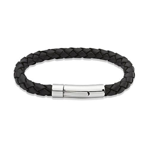Unique & Co Mens Leather Bracelet, A40BL.