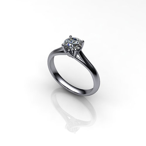 Diamond 18ct White Gold Solitaire Engagement Ring, 0.71cts.