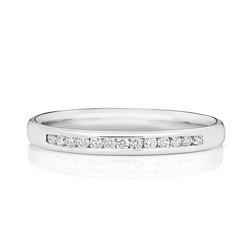 Diamond Platinum Eternity Ring, 0.15cts