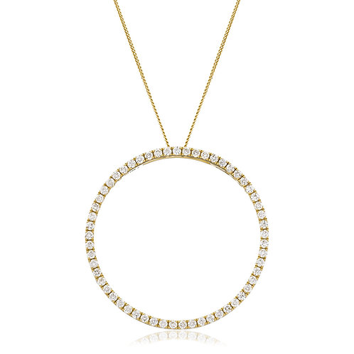 Diamond Halo Love Pendant 0.71cts, 18ct Gold.