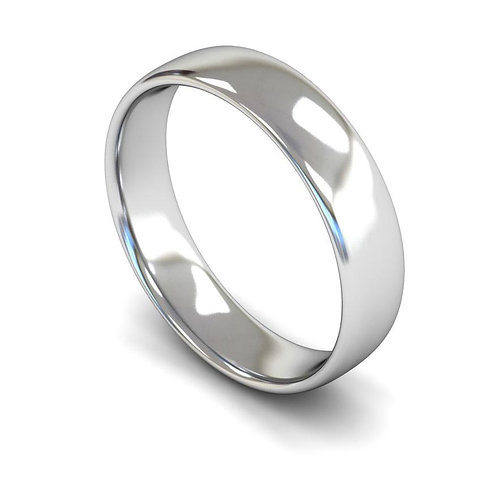 18ct Slight Court 5mm Wedding Bands, WBL 5mm.