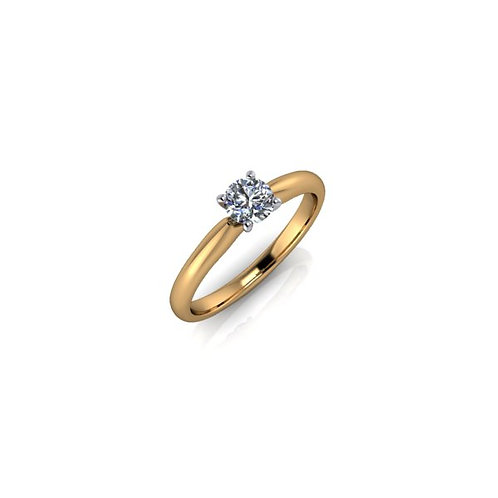 Diamond Solitaire Engagement Ring 0.33cts, 18ct Gold.