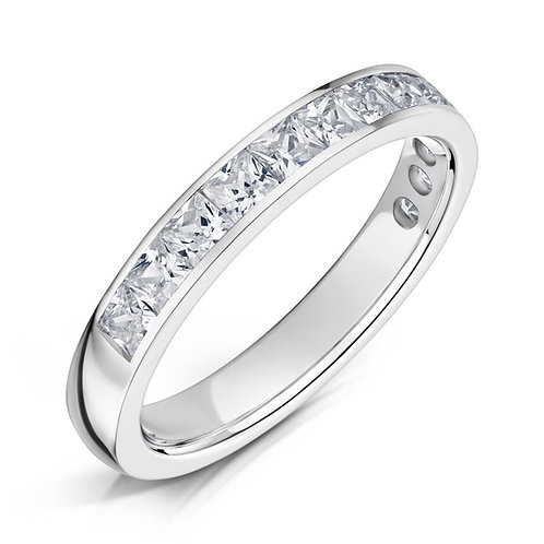 Diamond Eternity Ring 0.50cts, 18ct White Gold.