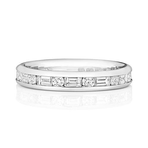 Diamond Platinum Eternity Ring, 0.49cts