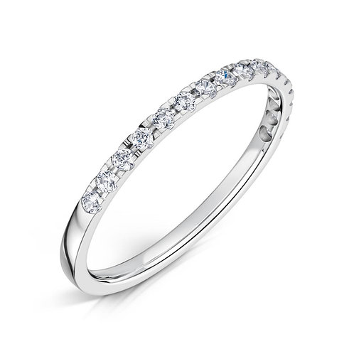 Diamond Eternity Ring 0.17, 18ct White Gold.