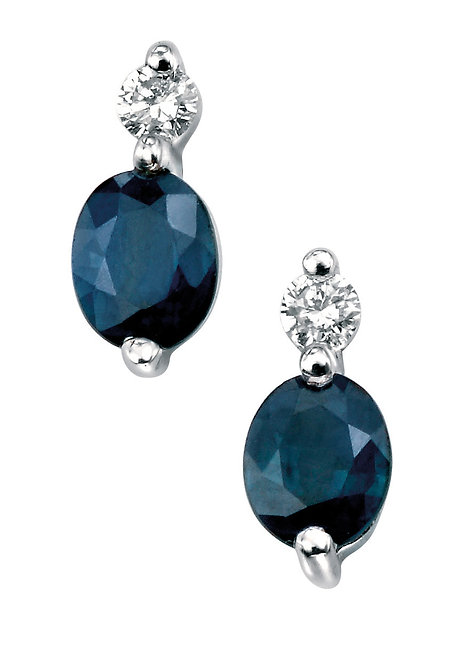 Ladies Sapphire & Diamond Earrings, GE753L.