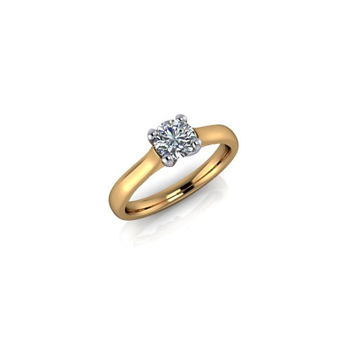 Diamond Solitaire Engagement Ring 0.40cts, 18ct Gold.