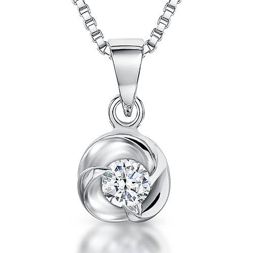Jools Sterling Silver cz knot  pendant kpn1246