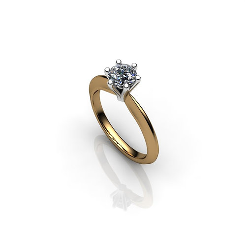 Diamond Solitaire Engagement Ring 0.36cts, 18ct Gold
