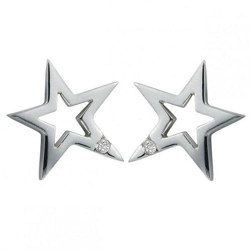 Hot Diamonds Silver Star Earrings, DE104.