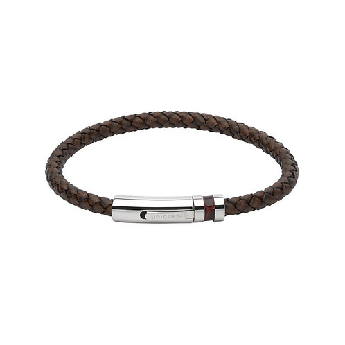 Unique & Co Mens Leather Bracelet, B346ADB.