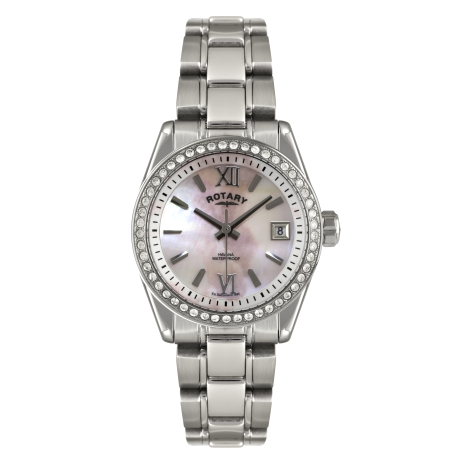 Rotary Havana Ladies Mother of Pearl Watch, LB02660/07.