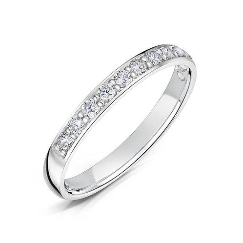 Diamond Eternity Ring 0.20cts, 18ct White Gold.