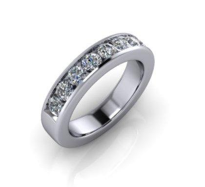 Diamond Eternity Ring 1ct, 14ct White Gold.